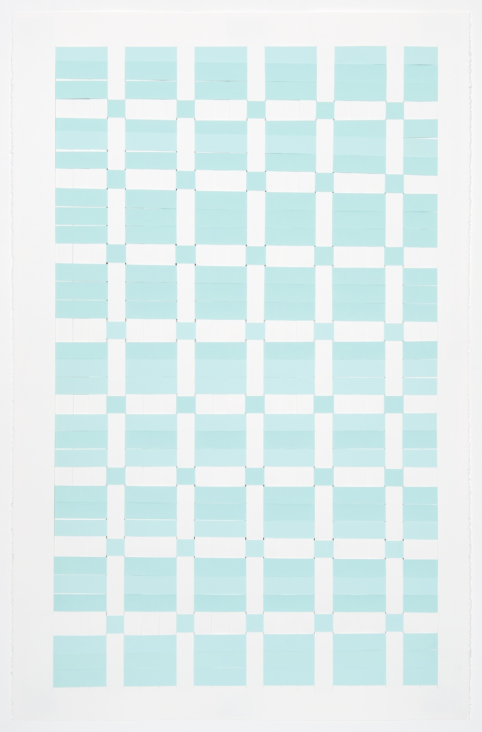 Michelle Graber  Untitled  2013 Paper and Color-aid 40h x 26w in MGrab301