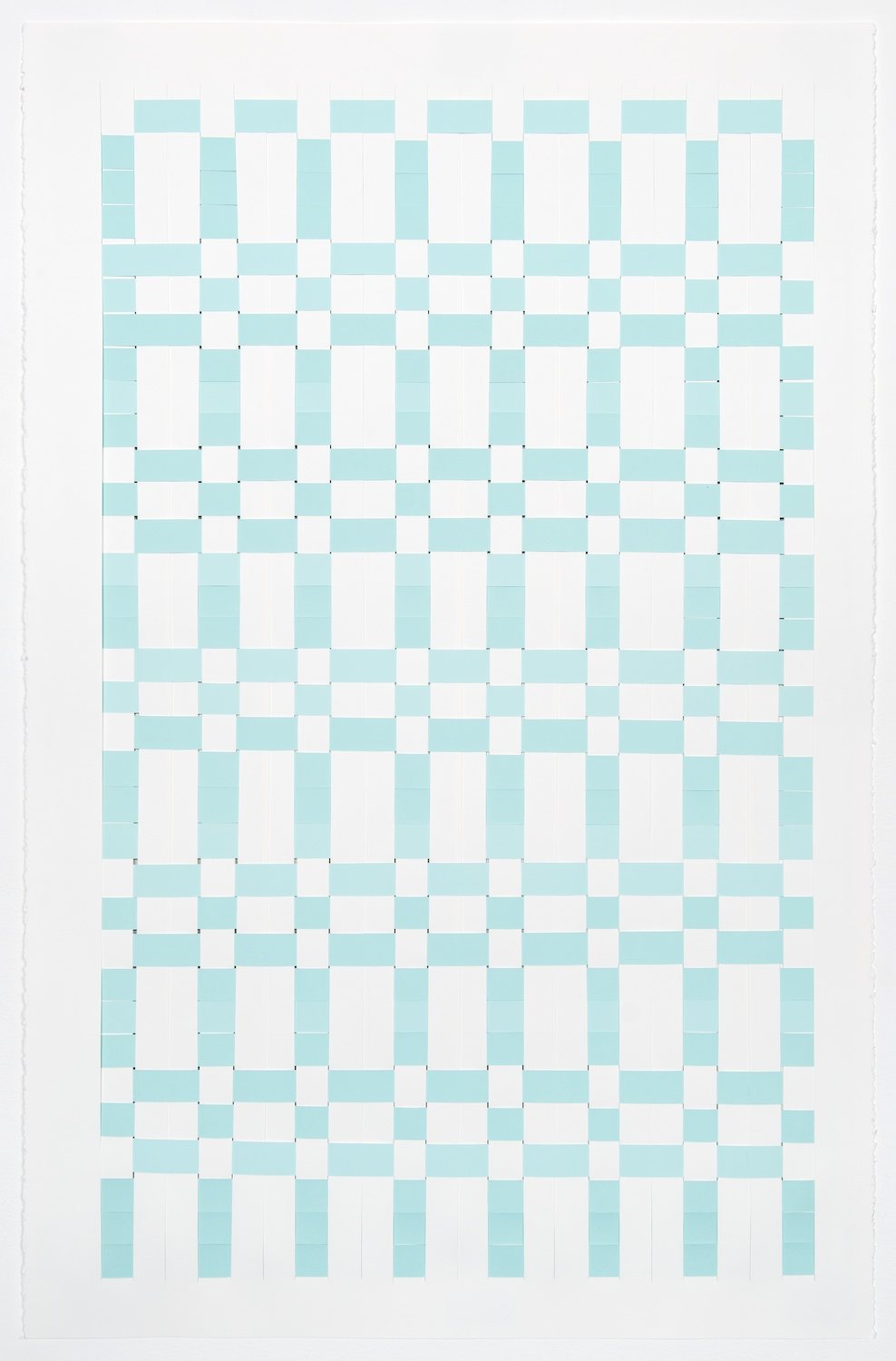 Michelle Graber  Untitled  2013 Paper and Color-aid 40h x 26w in MGrab302