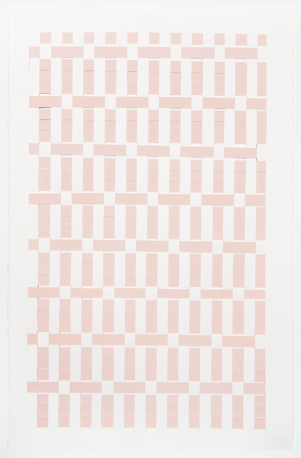 Michelle Graber  Untitled  2013 Paper and Color-aid 40h x 26w in MGrab307