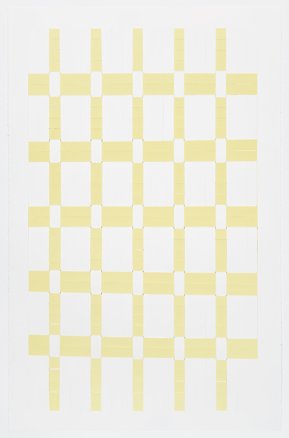 Michelle Graber  Untitled  2013 Paper and Color-aid 40h x 26w in MGrab306