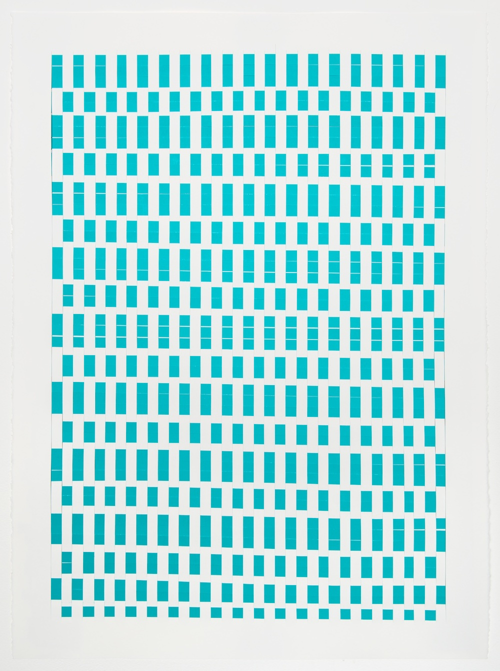 Michelle Graber  Untitled  2013 Paper and Color-aid 30h x 22w in MGrab310