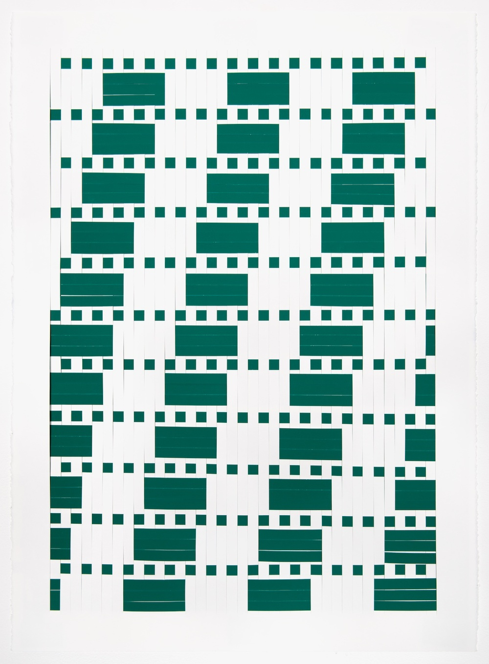 Michelle Graber  Untitled  2013 Paper and Color-aid 40h x 26w in MGrab309