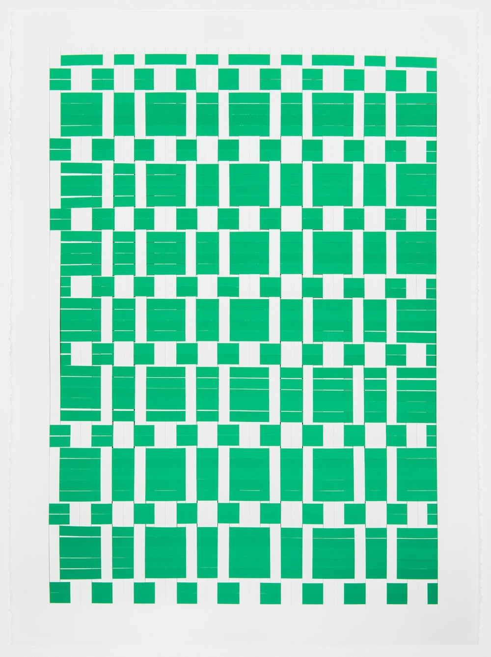 Michelle Graber  Untitled  2013 Paper and Color-aid 30h x 22w in MGrab311