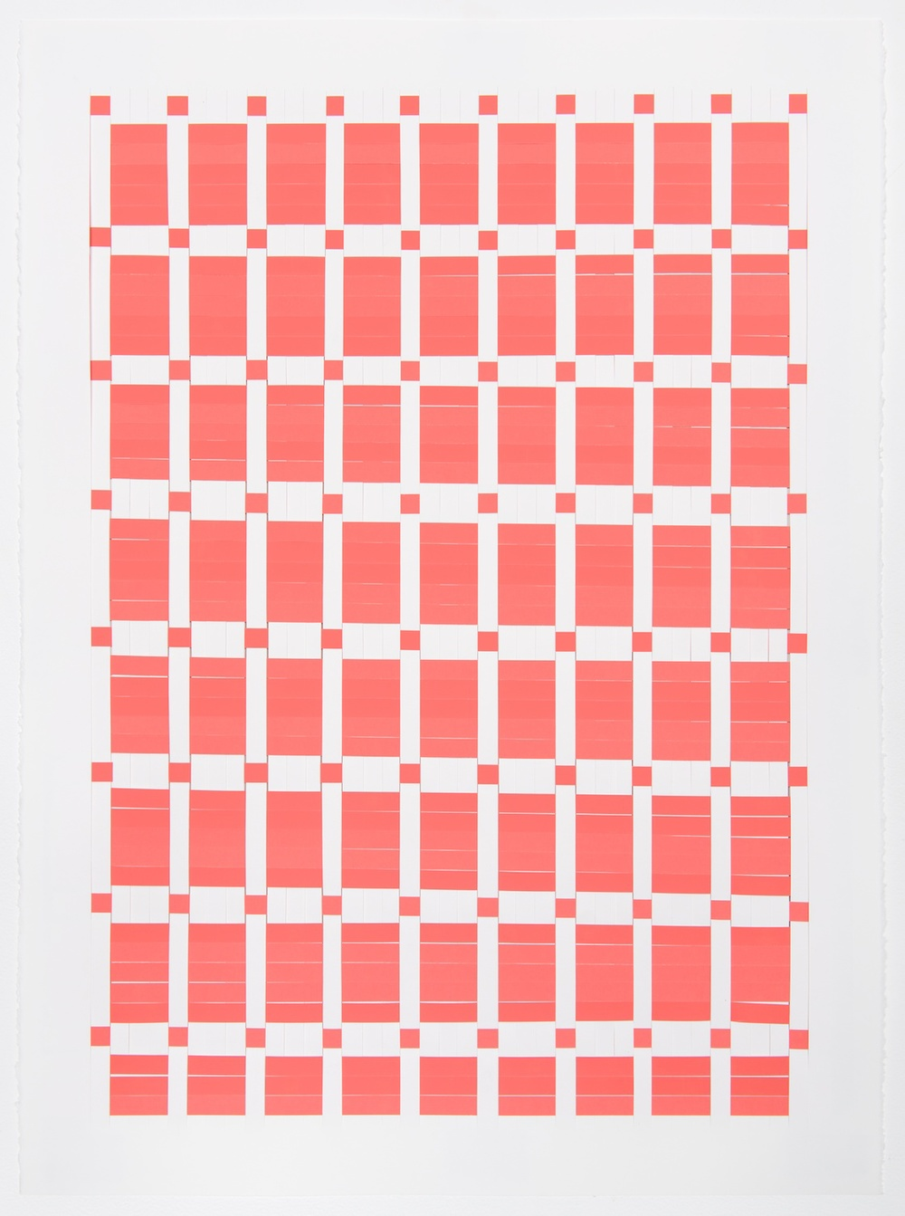 Michelle Graber  Untitled  2013 Paper and Color-aid 30h x 22w in MGrab316