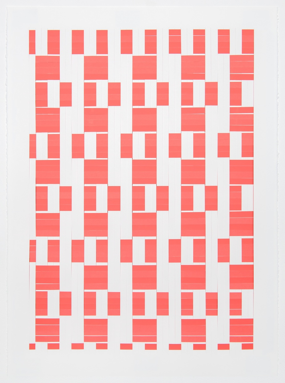 Michelle Graber  Untitled  2013 Paper and Color-aid 30h x 22w in MGrab317