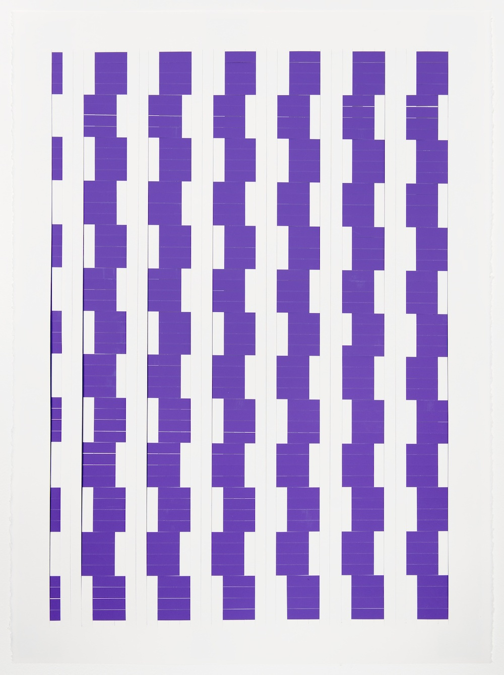 Michelle Graber  Untitled  2013 Paper and Color-aid 30h x 22w in Grab312