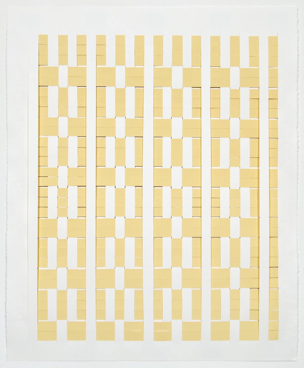 Michelle Graber  Untitled  2013 Paper and Color-aid 36h x 30w in  MGrab322