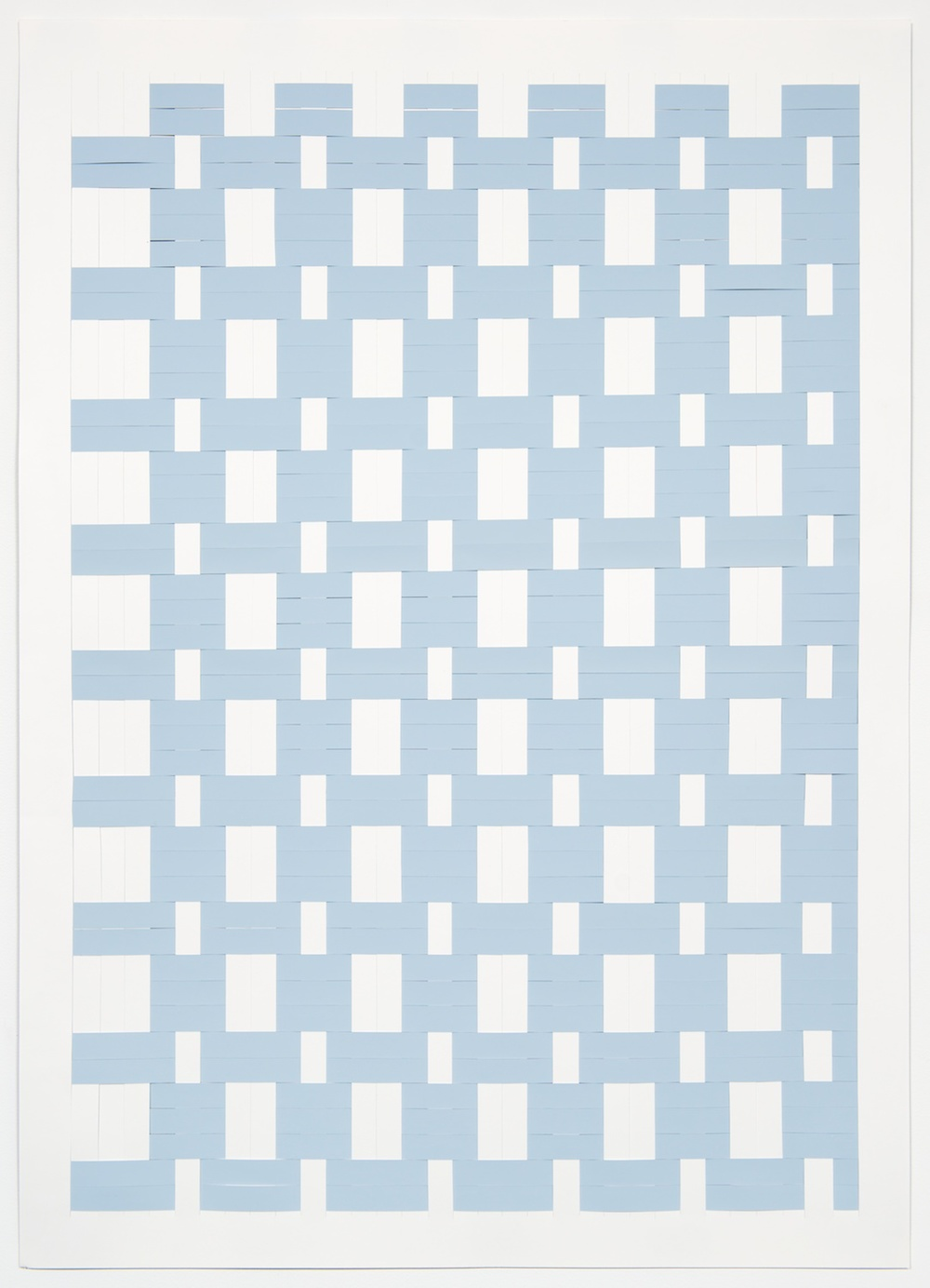 Michelle Graber  Untitled  2013 Paper and Color-aid 49 ¾h x 35w in MGrab323