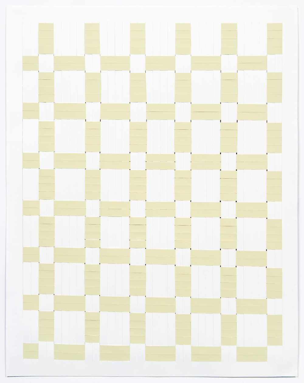Michelle Graber  Untitled  2013 Paper and Color-aid 48 ½h x 38w in MGrab324