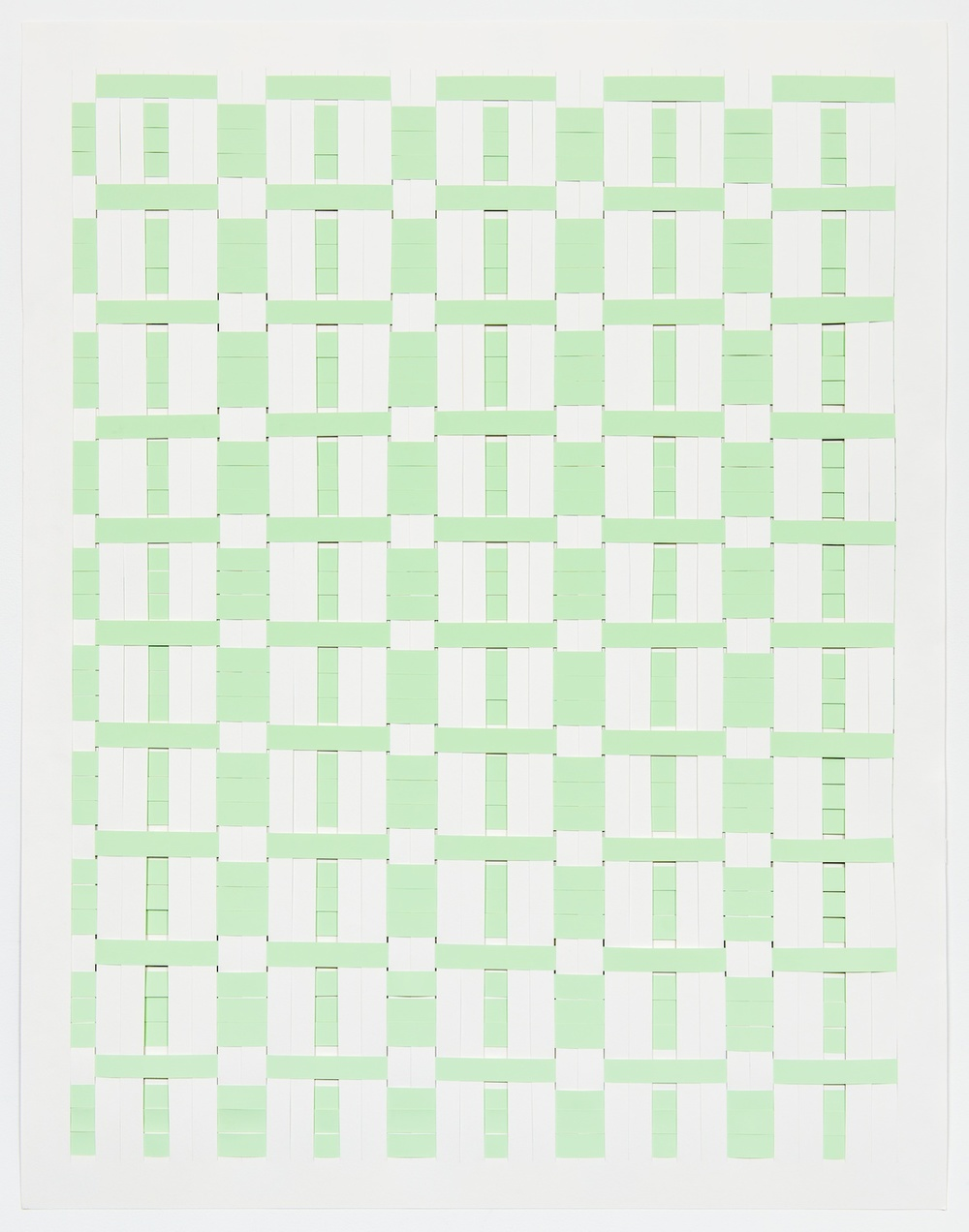 Michelle Graber  Untitled  2013 Paper and Color-aid 49h x 38w in MGrab326