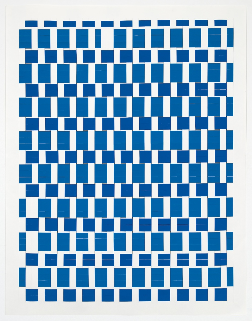 Michelle Graber  Untitled  2013 Paper and Color-aid 49h x 38w in MGrab325