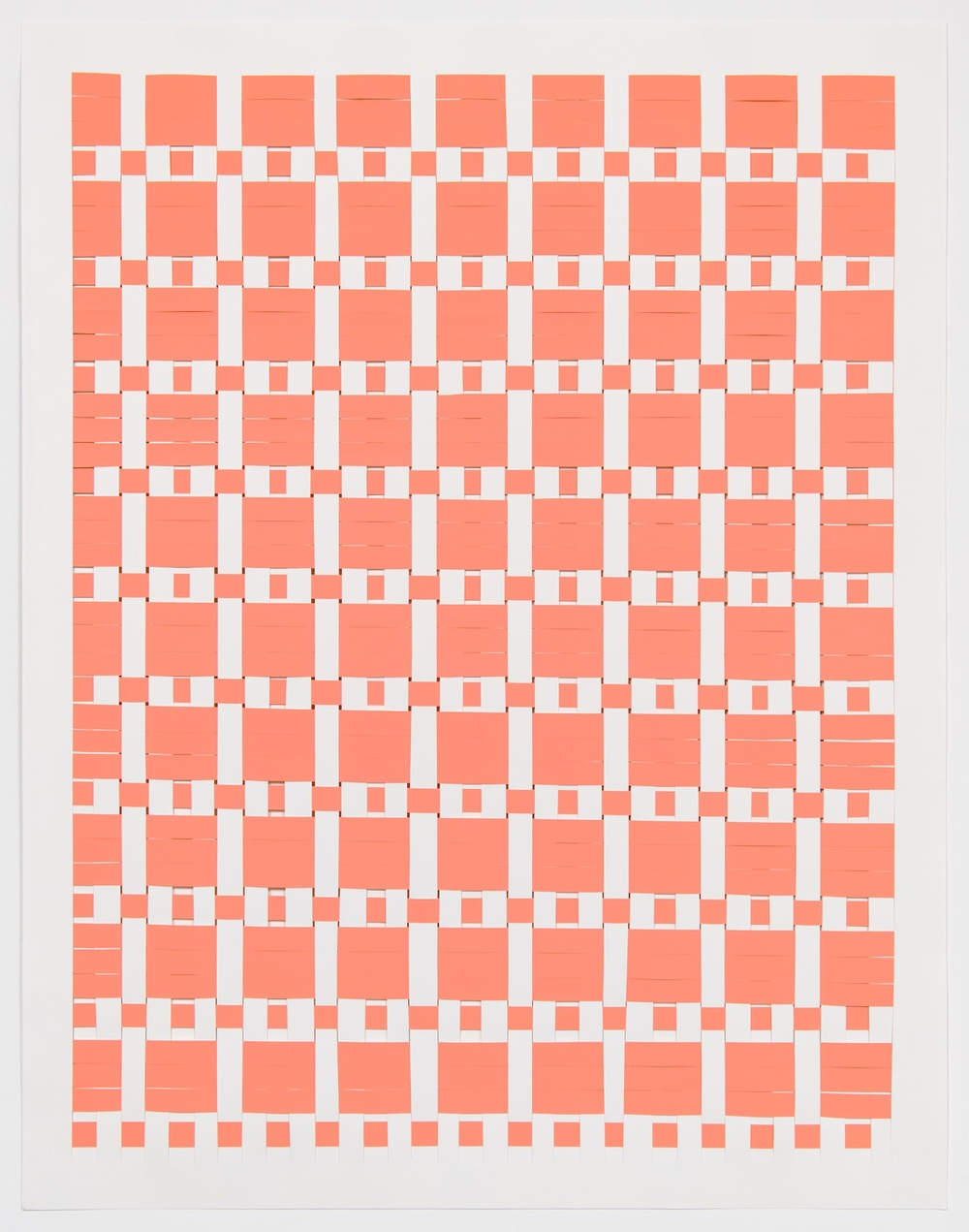 Michelle Graber  Untitled  2013 Paper and Color-aid 49h x 38w in MGrab327