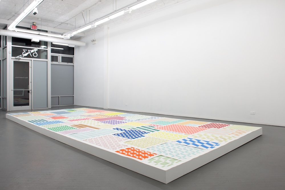 Michelle Grabner 2013 Shane Campbell Gallery, Chicago Installation View