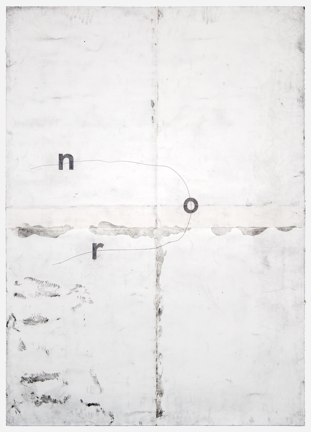 "Tony Lewis ron 2012 Pencil and powdered graphite on paper 84"" x 60"" TL027"