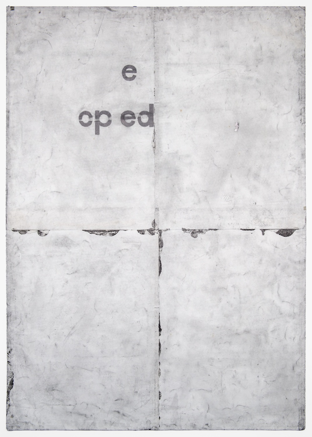 "Tony Lewis ,de po e 2011 Pencil and powdered graphite on paper 84"" x 60"" TL028"