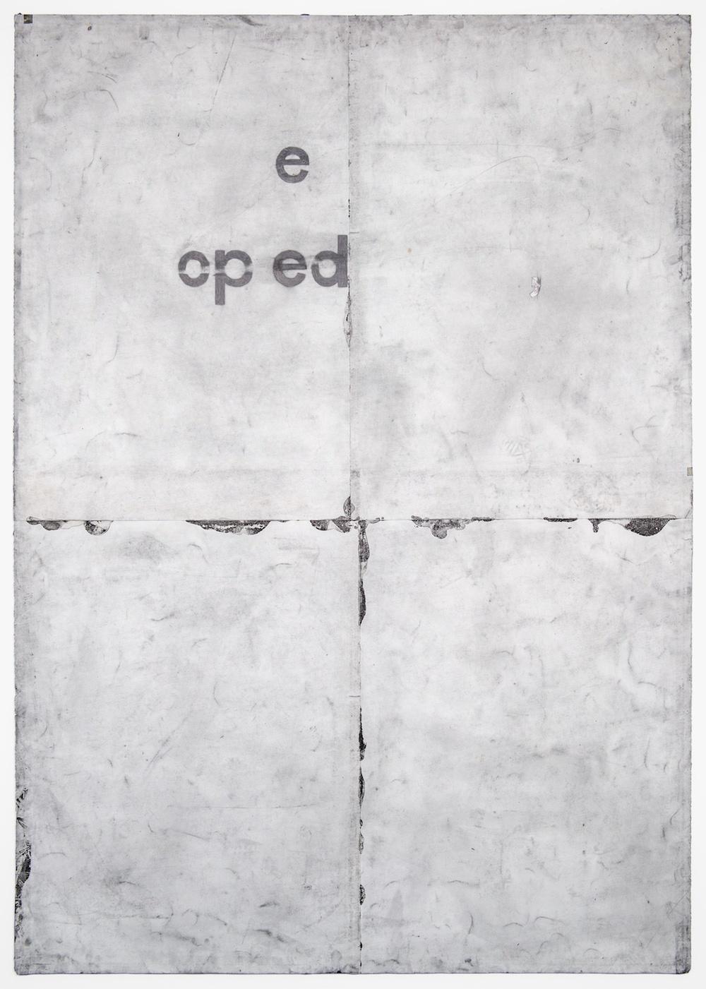 Tony Lewis  ,de po e  2011 Pencil and powdered graphite on paper 84h x 60w in TL028