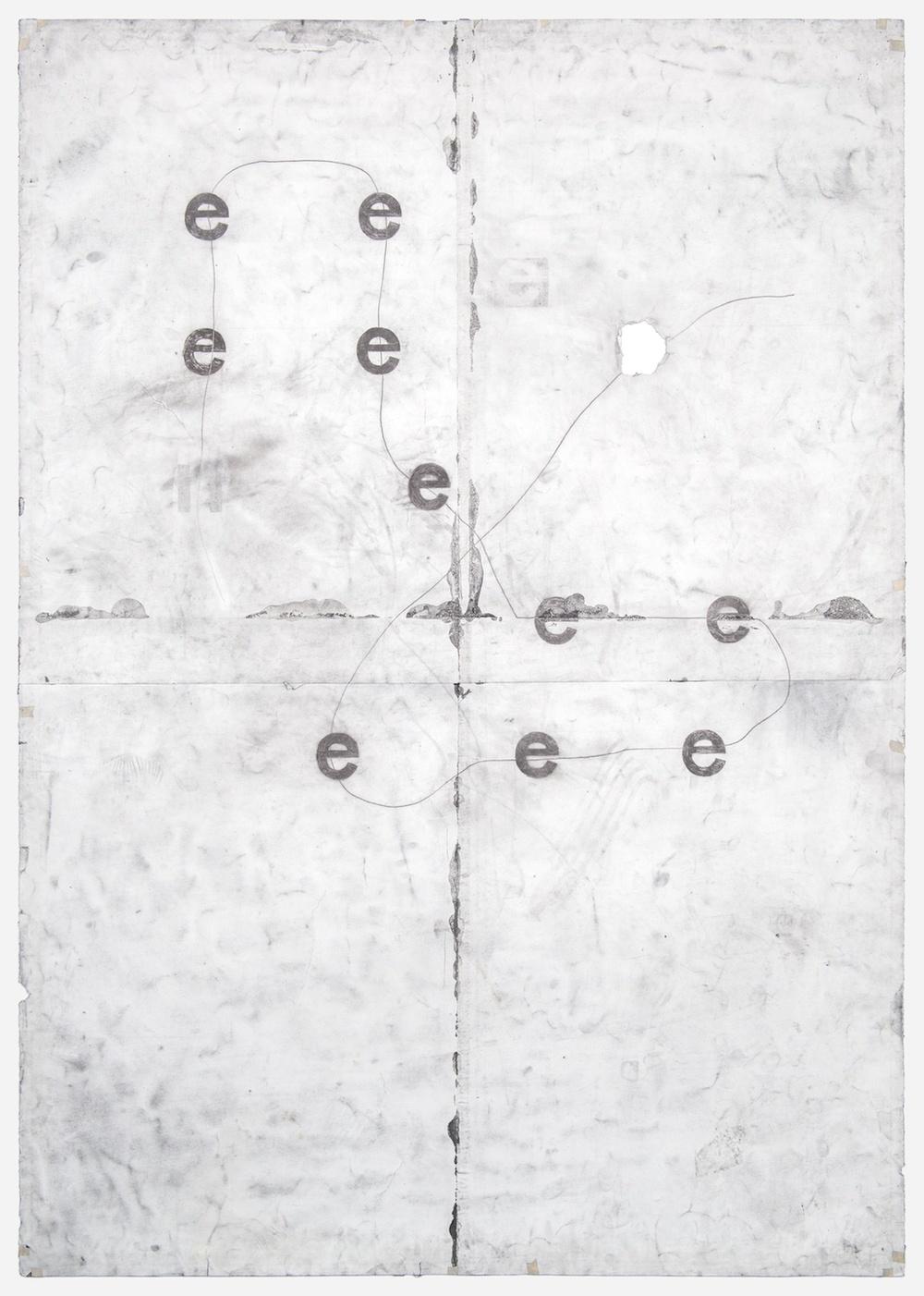Tony Lewis  e e e e e e e e e e  2011 Pencil and powdered graphite on paper 84h x 60w in TL030
