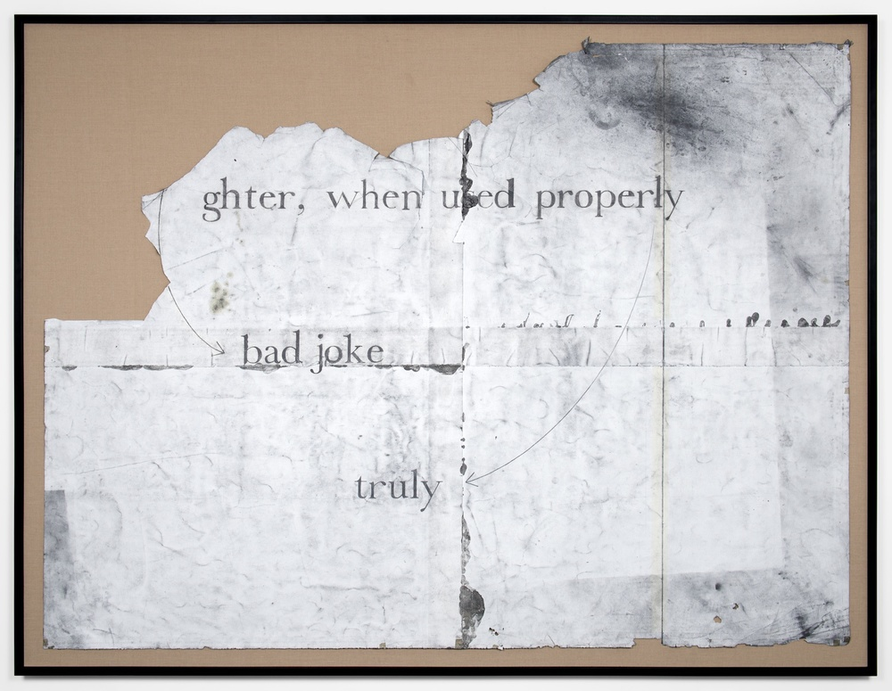 "Tony Lewis Appropriately, humor them. 2011 Pencil and graphite powder on paper 72"" x 96"" TL033"