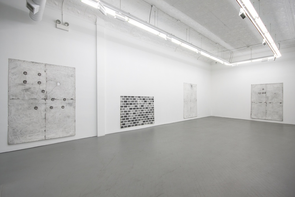 Tony Lewis Nine Drawings for Charles 2012 Shane Campbell Gallery, Chicago Installation View