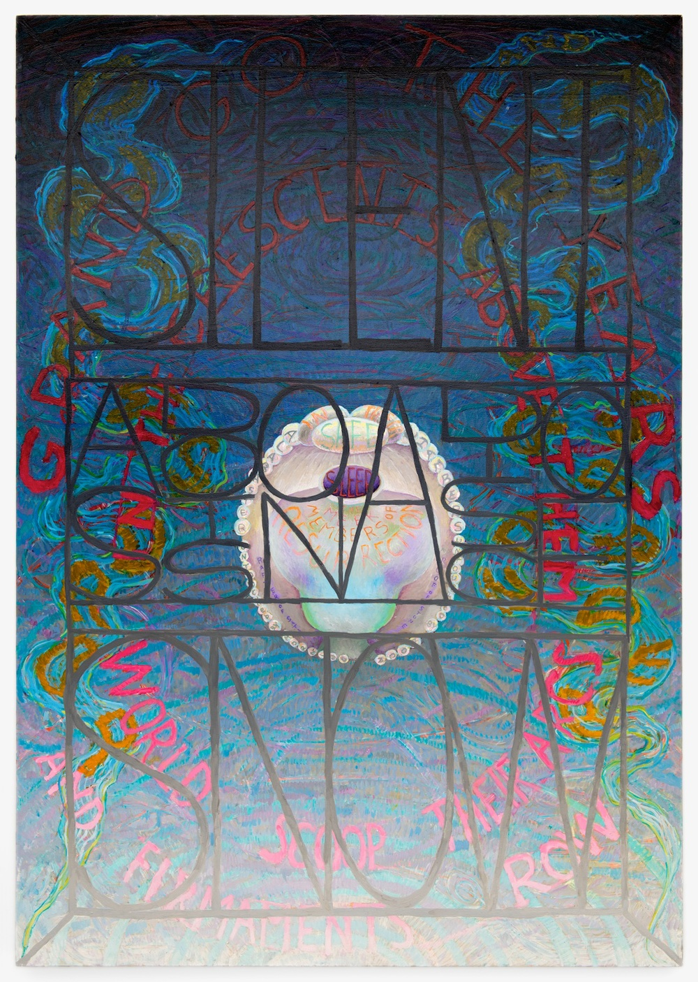 Philip Hanson  Faith in their Alabaster Chamber (Dickinson)  2012 Oil on canvas 64h x 45w in PHan003