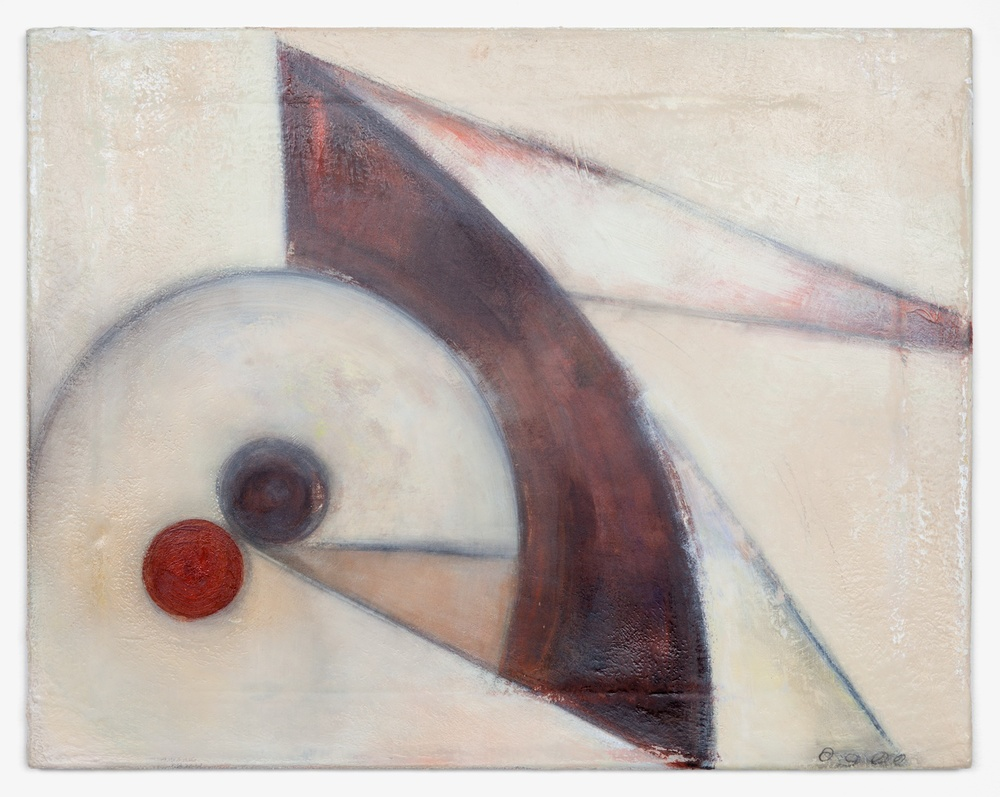 Lily Ludlow  Bevel and Iris  2012 Acrylic, graphite, and gesso on canvas 14h x 18w in LL001