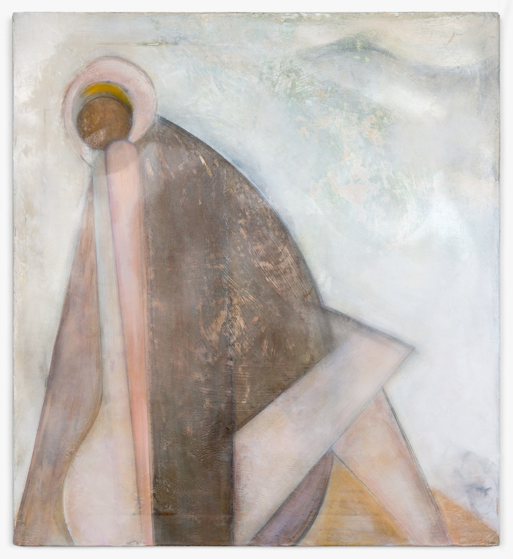 "Lily Ludlow Reverence 2012 Acrylic, graphite, and gesso on canvas 24"" x 22 1/4"" LL003"