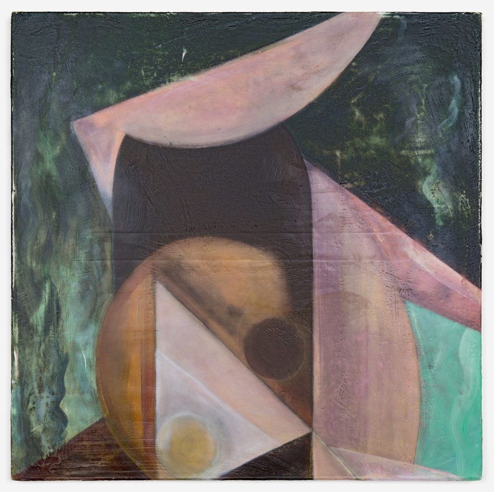 "Lily Ludlow Pinwheels 2012 Acrylic, graphite, and gesso on canvas 24"" x 24"" L004"