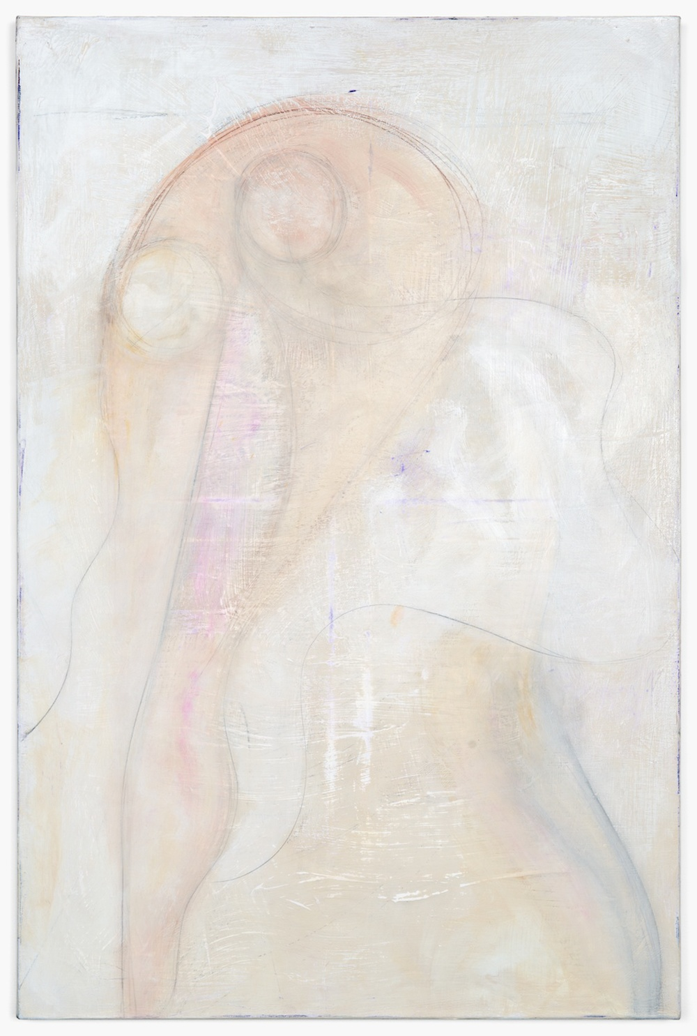 "Lily Ludlow Somnambulist 2012 Acrylic, graphite, and gesso on canvas 36"" x 24"" LL007"