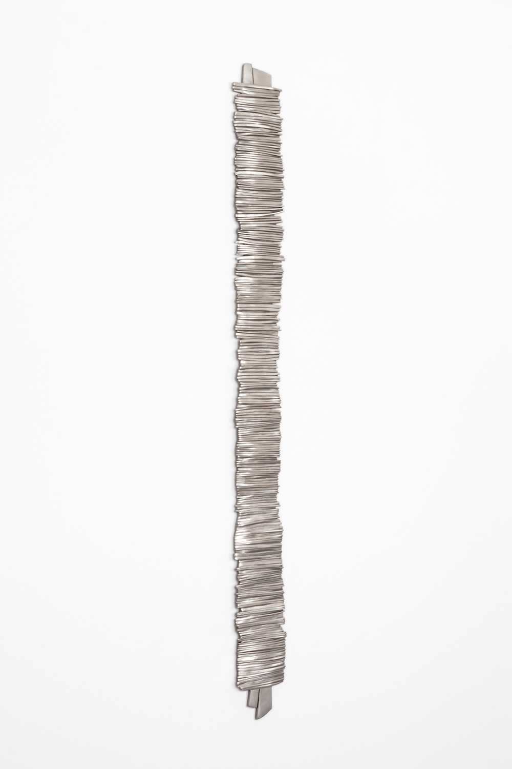 "Anthony Pearson Untitled (Tablet) 2012 Bronze relief with silver nitrate patina 51 1/2"" x 4 1/2"" AP319"