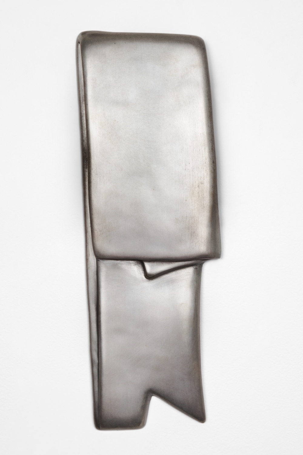 "Anthony Pearson Untitled (Tablet) 2012 Bronze relief with silver nitrate patina 15"" x 6"" AP320"
