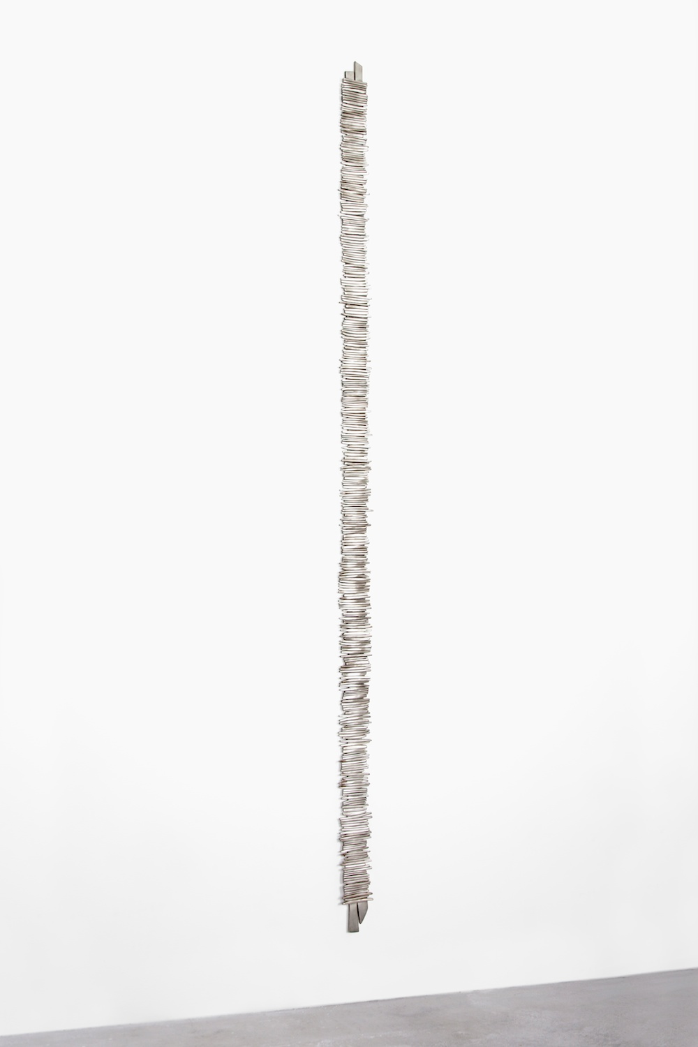 "Anthony Pearson Untitled (Tablet) 2012 Bronze relief with silver nitrate patina 82"" x 3 1/4"" AP321"