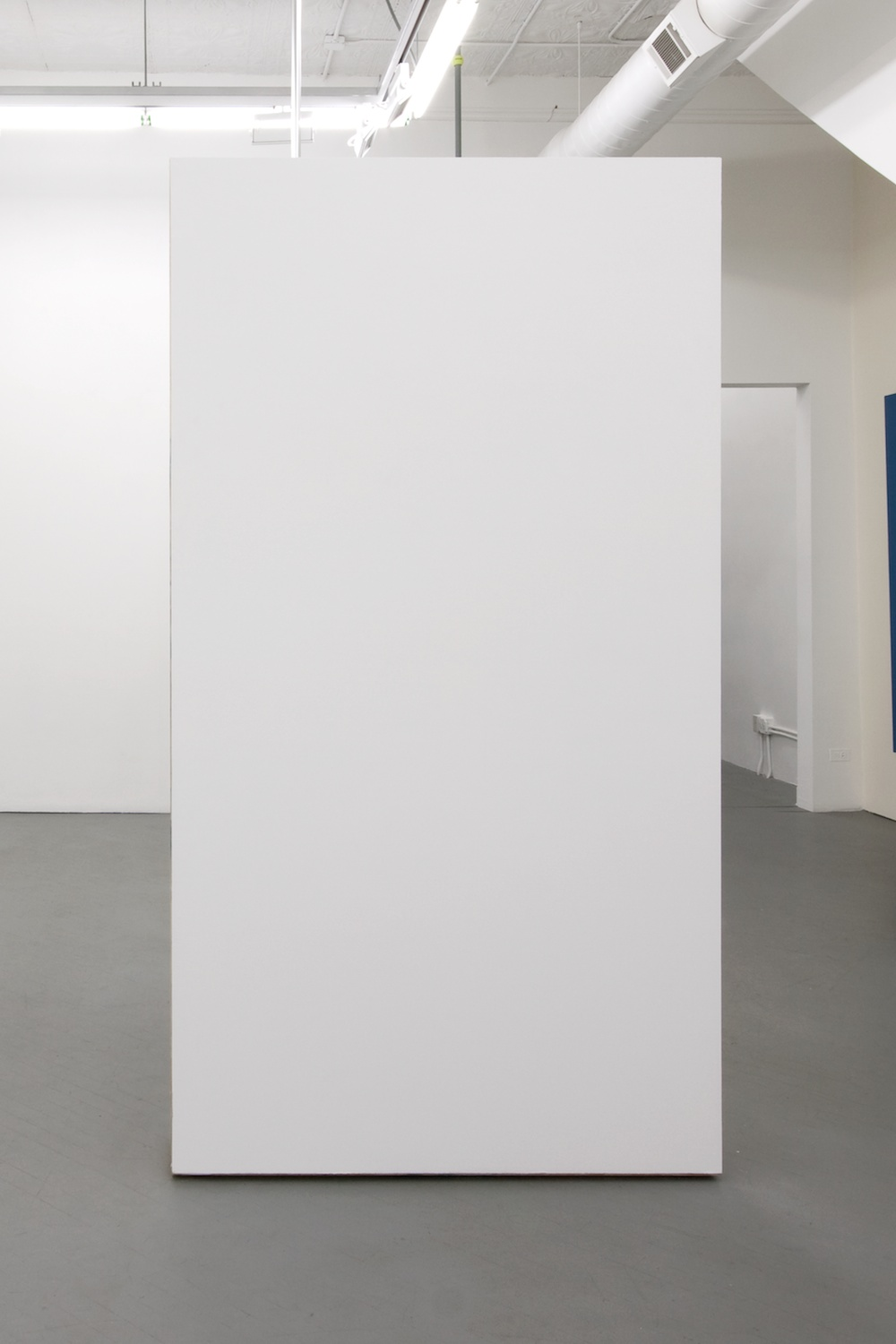 "Brendan Fowler Summer 2012 Wall (90""x 48"" White Flat) / Summer 2012 Wall (90""x 48"" White Flat) / Summer 2012 Wall (90""x 48"" White Flat) / Summer 2012 Wall (90""x 48"" White Flat) 2012 Lumber, drywall, latex paint 90"" x 48"" x 4.25"" (Four sections) BF001"