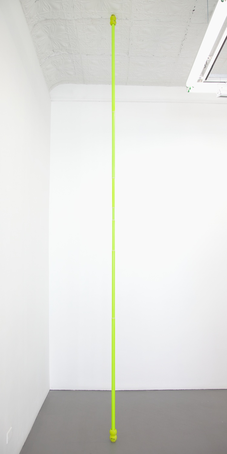 "Chadwick Rantanen Telescopic Pole (Drive Medical/Double Ball) 2012 Powdercoated aluminum, plastic, walkerballs 282"" x 1.5"" CR026"