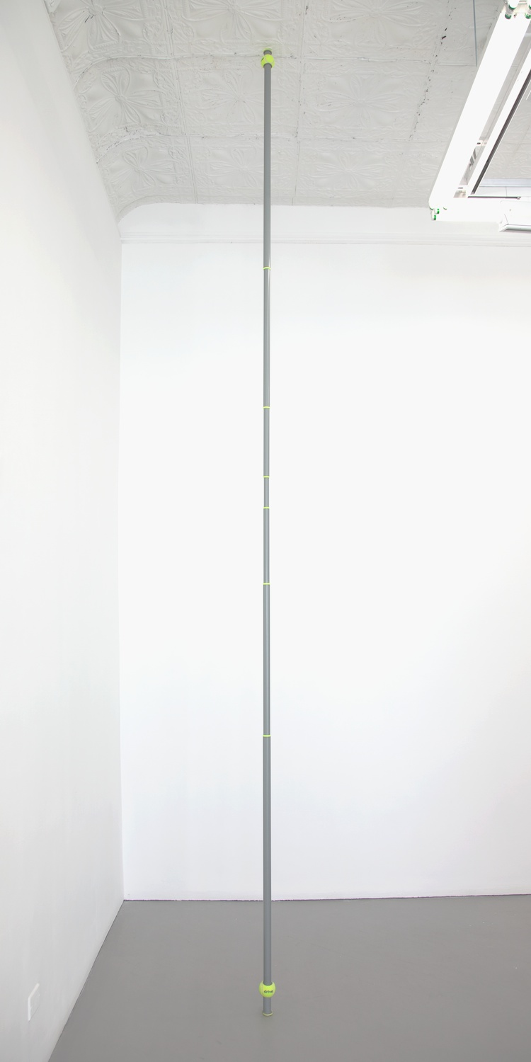 "Chadwick Rantanen Telescopic Pole (Drive Medical/Grey) 2012 Powdercoated aluminum, plastic, walkerballs 296"" x 1 1/2"" CR027"