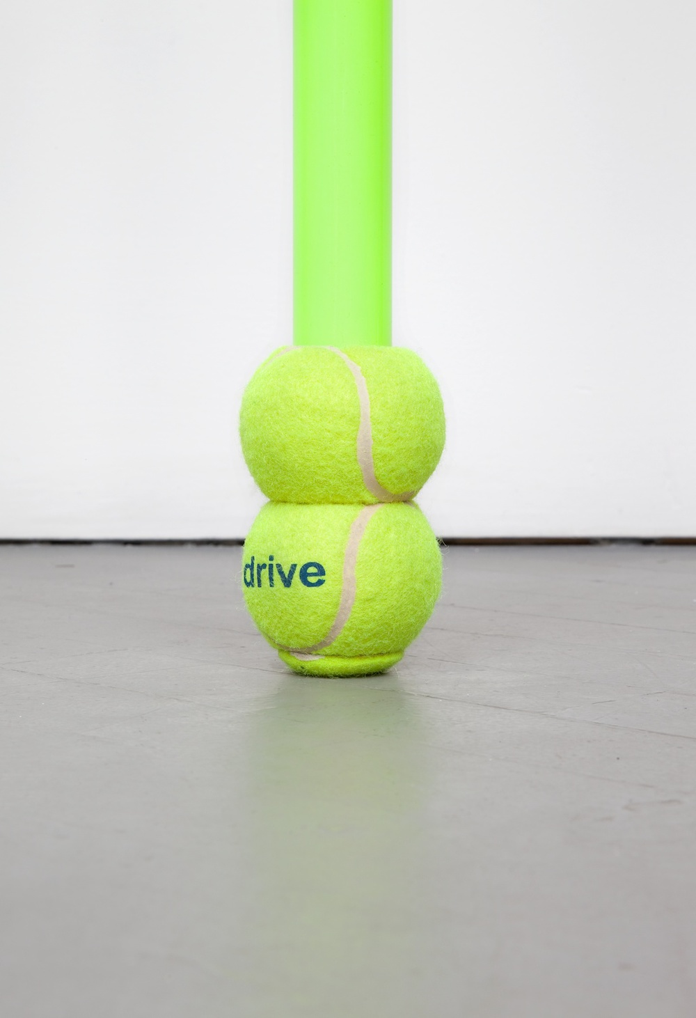 Chadwick Rantanen  Telescopic Pole (Drive Medical/Double Ball)  (Detail) 2012 Powdercoated aluminum, plastic, walkerballs 282h x 1 ½w in CR026