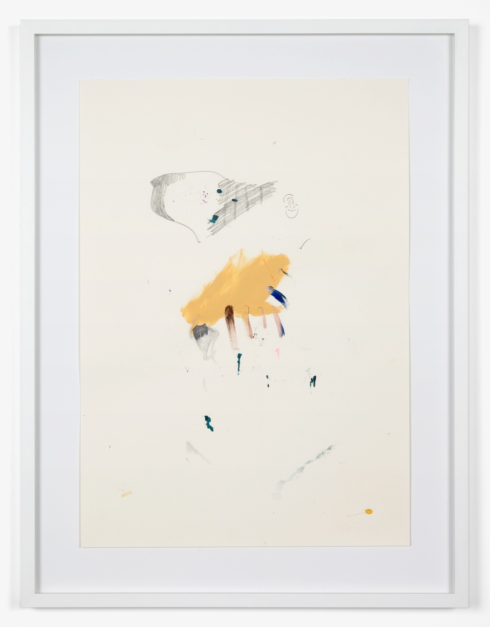 Verena Dengler  Dinosaur  2011 Mixed media paint on stressed paper 29 ⅜h x 22 ¼w in VD001