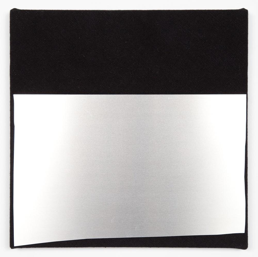 "Kim Fisher Aluminum, No. 4 2012 Aluminum on dyed linen 14"" x 14"" KF010"
