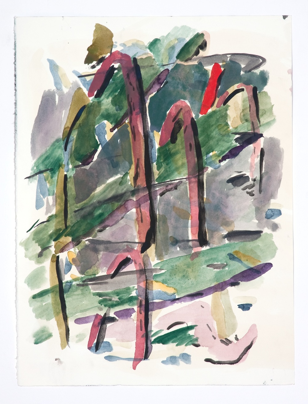 Jon Pestoni  Untitled  2009 Gouache on paper 15h x 11 ¼w in JP086