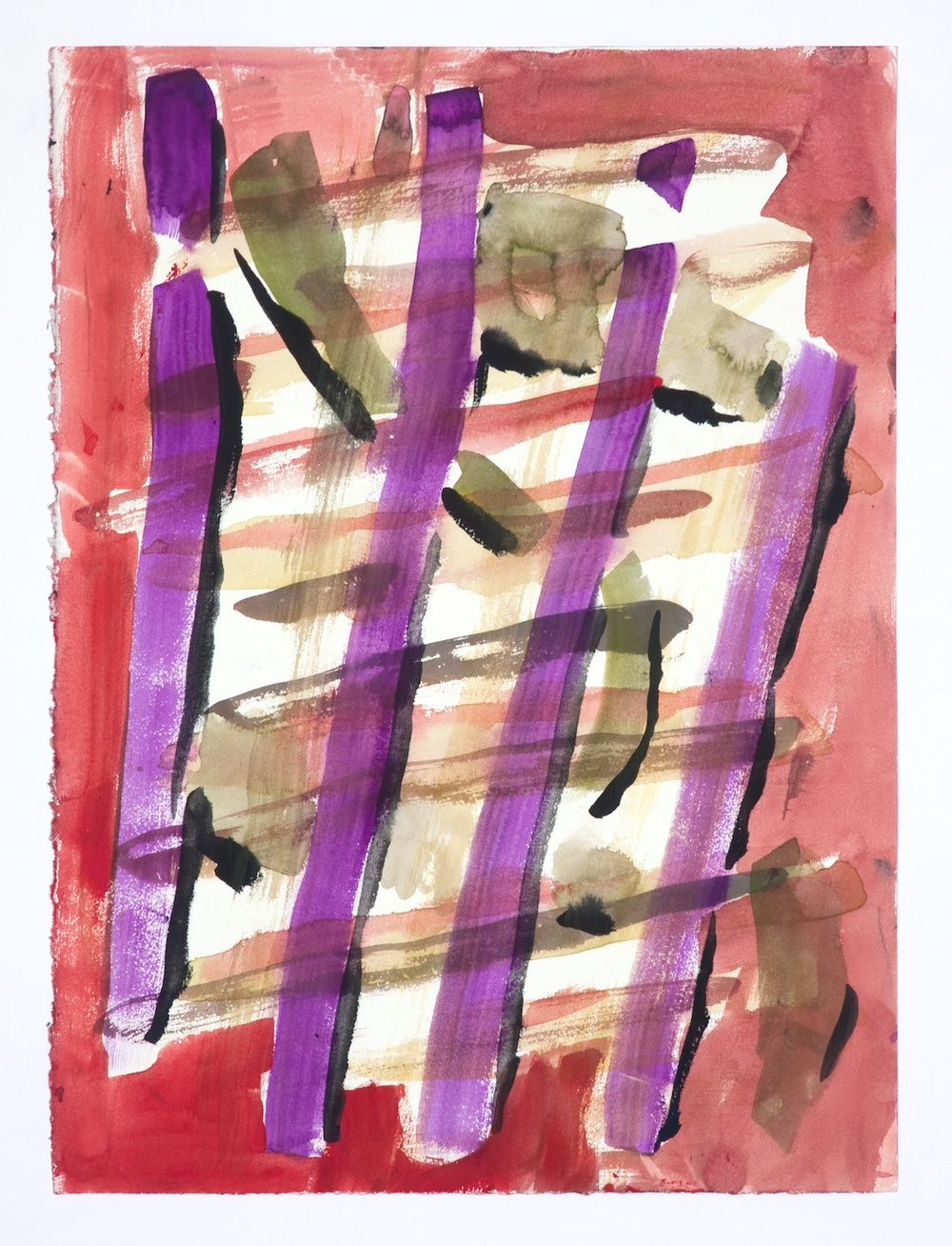 "Jon Pestoni Untitled 2009 Gouache on paper 15"" x 11 1/4"" JP084"