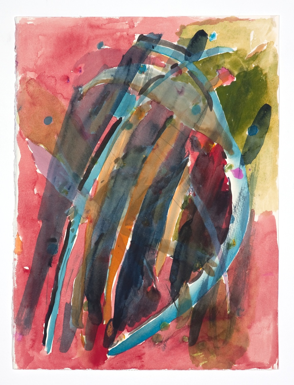 "Jon Pestoni Untitled 2009 Gouache on paper 15"" x 11 3/4"" JP076"
