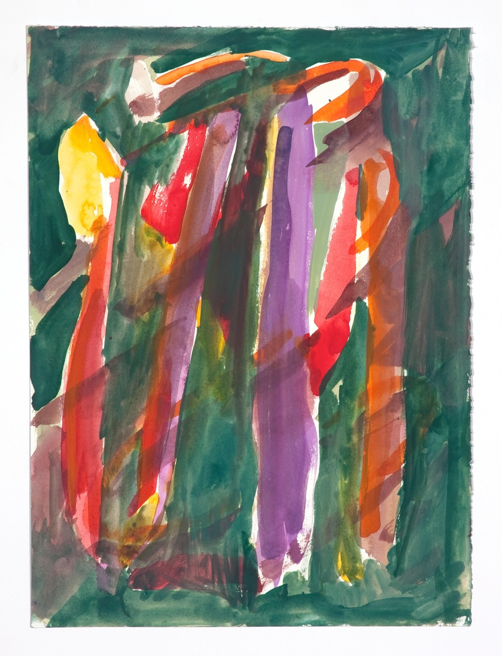 Jon Pestoni  Untitled  2009 Watercolor on paper 15h x 11 ¼w in JP070