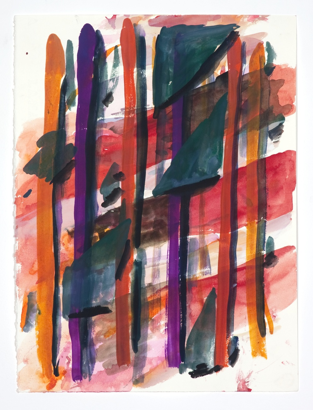Jon Pestoni  Untitled  2009 Gouache on paper 15h x 11w in JP065