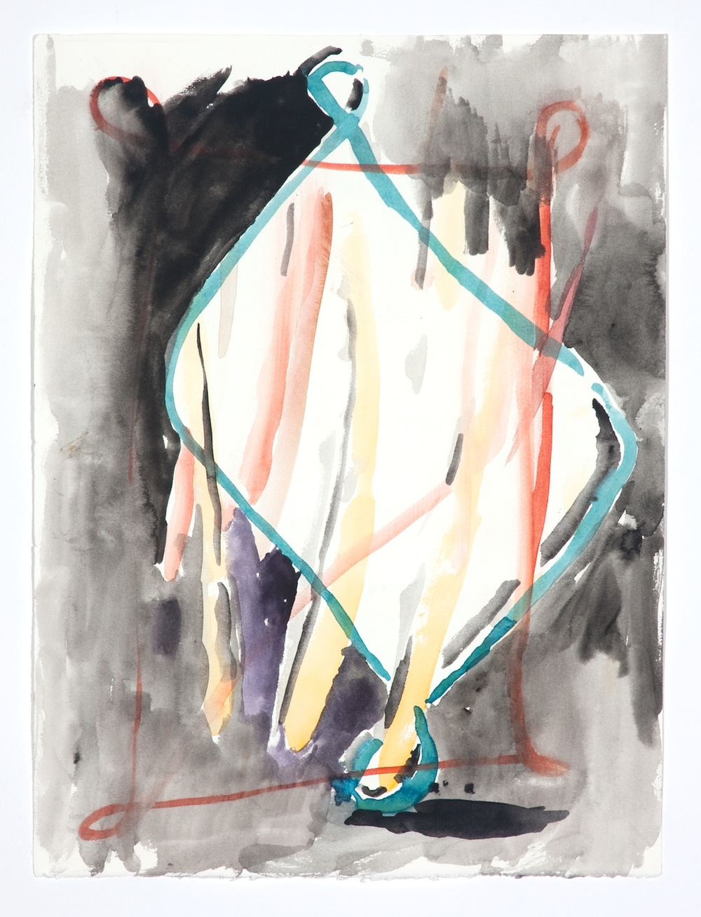 "Jon Pestoni Untitled 2009 Gouache on paper 15"" x 11 1/4"" JP056"