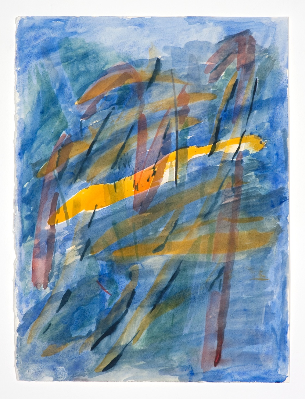 "Jon Pestoni Untitled 2009 Gouache on paper 15"" x 11"" JP055"