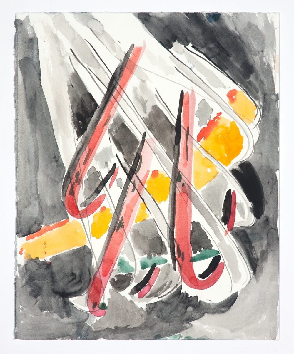 "Jon Pestoni Untitled 2009 Gouache on paper 14"" x 11 1/4"" JP053"