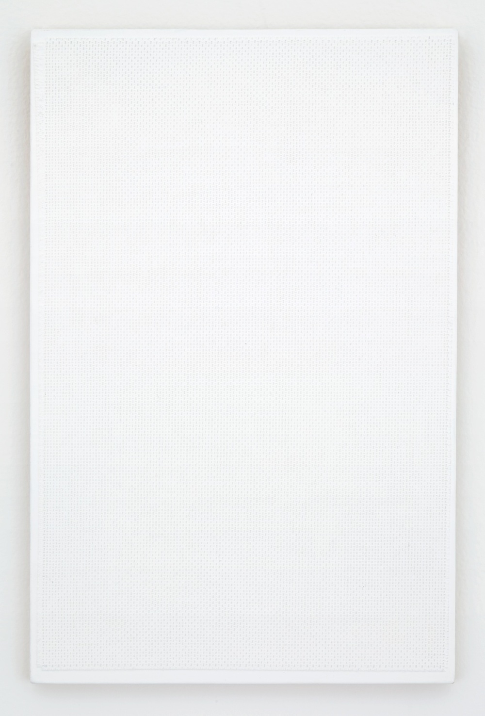 Michelle Grabner  Untitled  2012 Linen and gesso on panel 15 ½h x 10w in MGrab259