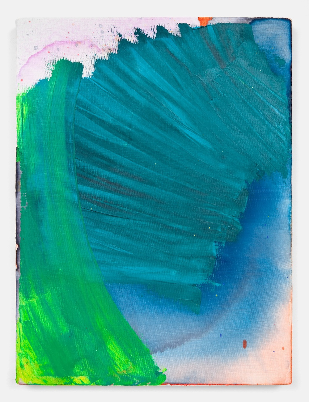 "Joanne Greenbaum Untitled 2011 Oil, acrylic and mixed media on linen 16"" x 12"" JG045"