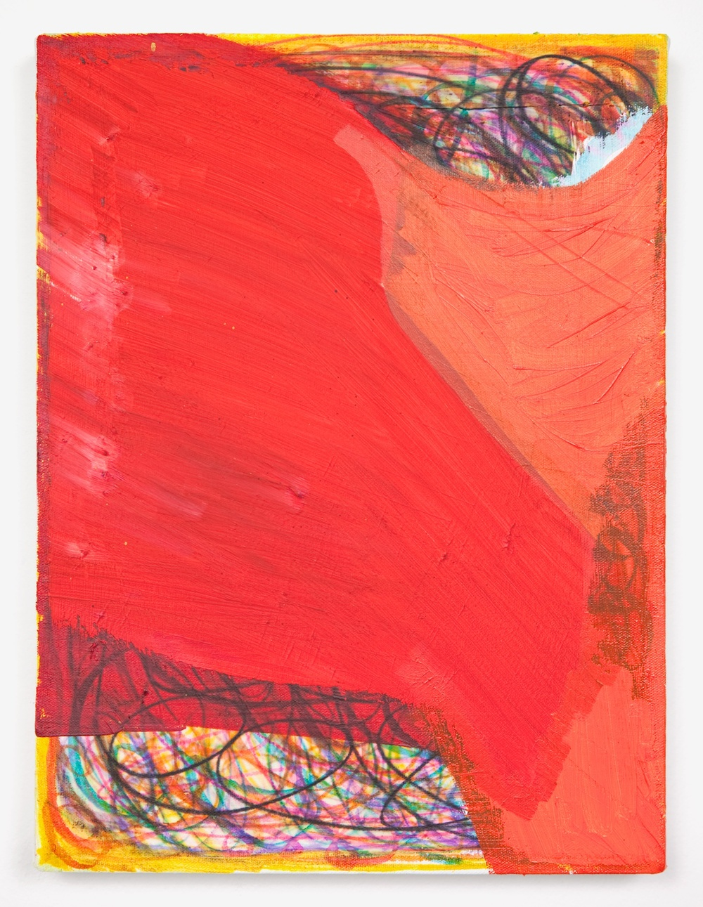 Joanne Greenbaum  Untitled  2011 Oil, acrylic and mixed media on linen 16h x 12w in JG031