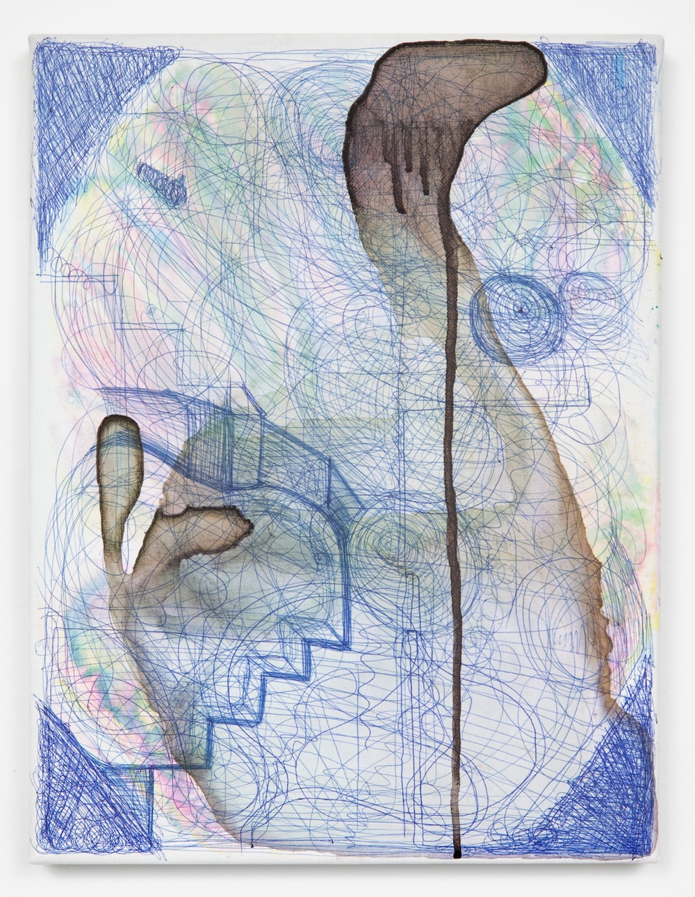 Joanne Greenbaum  Untitled  2011 Oil, acrylic and mixed media on linen 16h x 12w in JG020