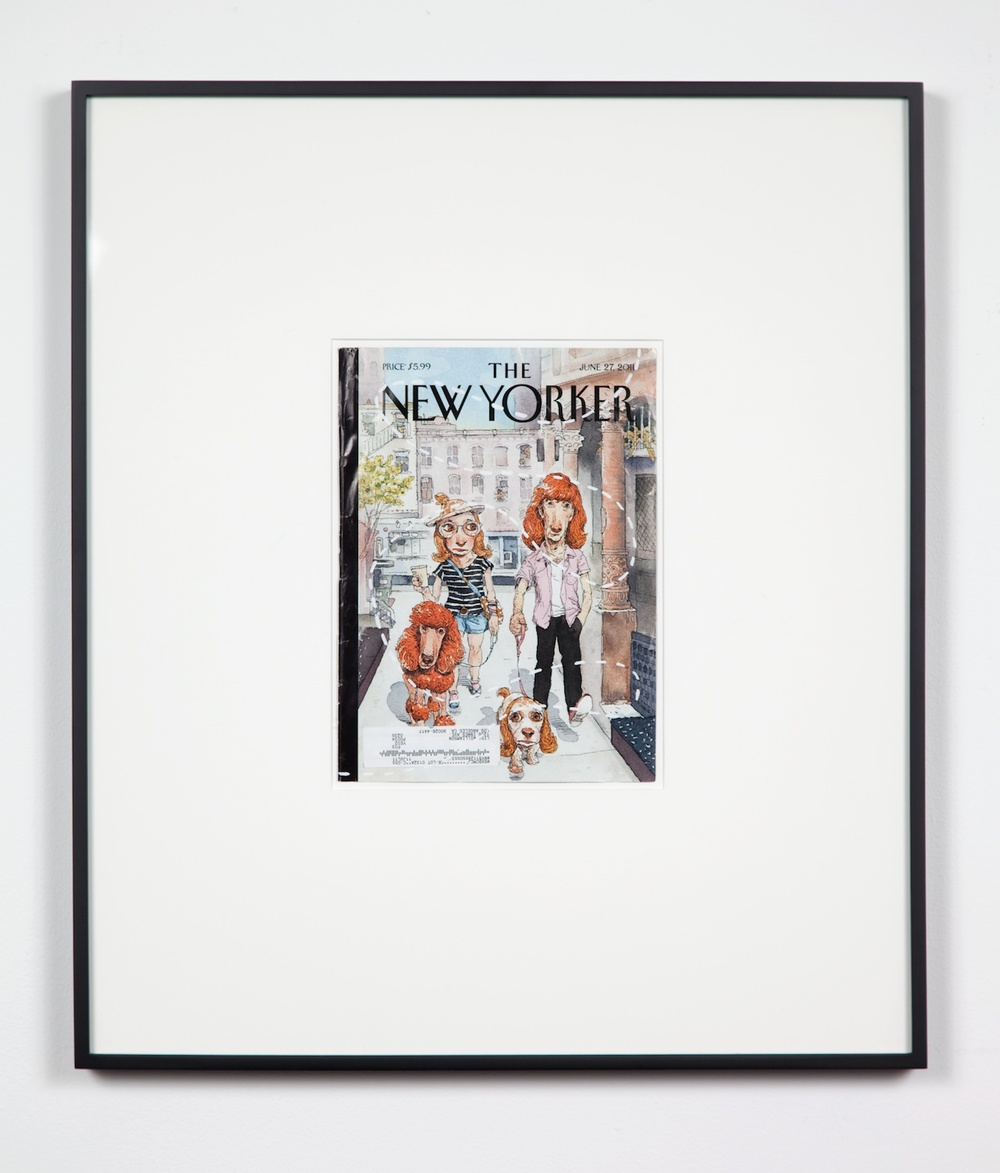 Lisa Williamson  Untitled (New Yorker)  2011 Silkscreen on magazine cover 24 ½h x 21w in LW088